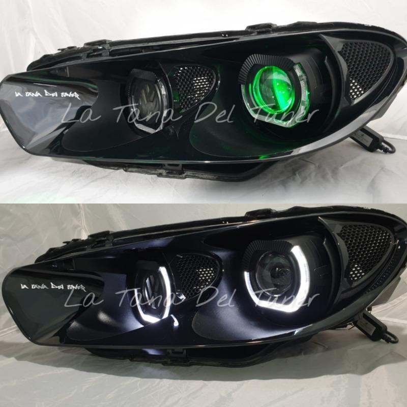 vw-scirocco-black-double-led-angel-eyes-bad-look-vw-logo-backlit
